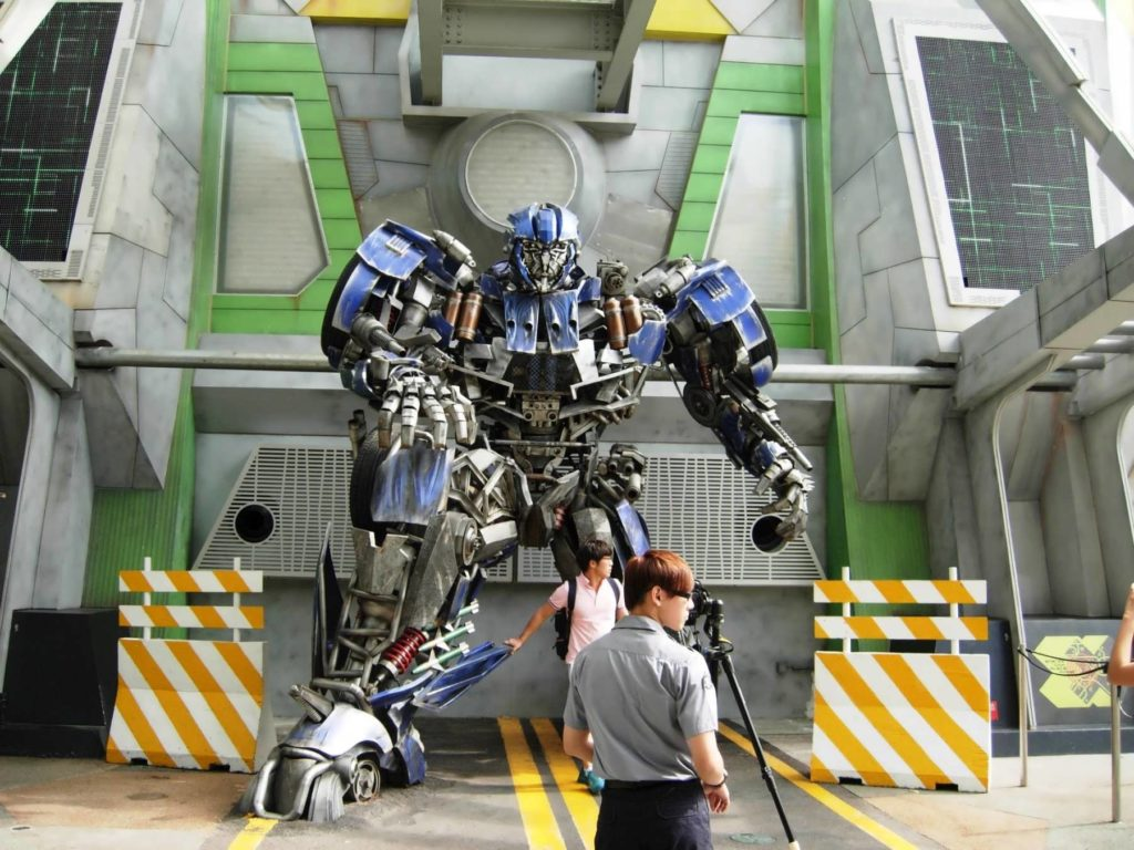 Transformers meet-'n-greet at Universal Studios Singapore