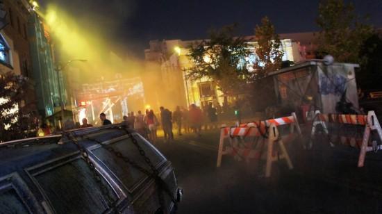 Acid Assault Scare Zone at Universal Orlando's Halloween Horror Nights 2011.