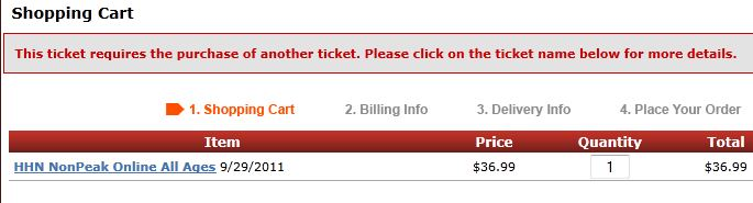 The HHN webstore gives you a warning if you have a Stay & Scream ticket in your basket without a regular admission ticket.