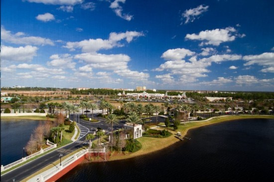 Hilton Grand Vacation Club on International Drive in Orlando: View from our balcony--can you see the Publix?