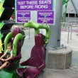 Incredible Hulk Coaster at Universal's Islands of Adventure: Test seats.