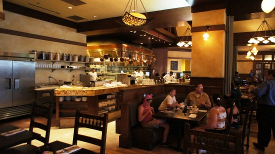 Kouzzina by Cat Cora at Disney's BoardWalk: More seating near the open kitchen.