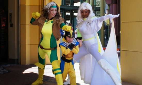 Marvel characters at Islands of Adventure's Marvel Super Hero Island.