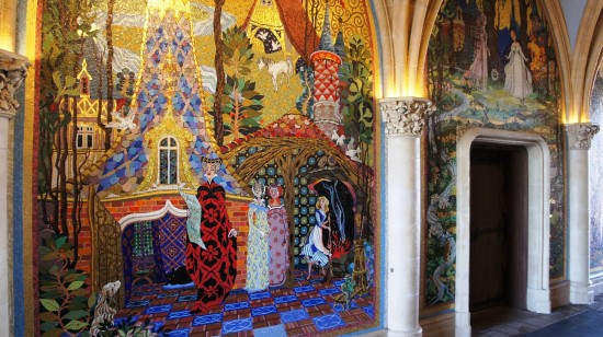 The mural in Magic Kingdom's Cinderella Castle has over 500 different colors of stone.