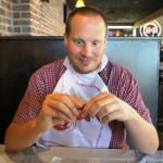 Hot 'n Juicy Crawfish Restaurant in Orlando: Workin' it.