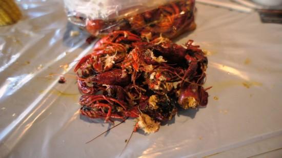 Hot 'n Juicy Crawfish Restaurant in Orlando: The pile that's left.
