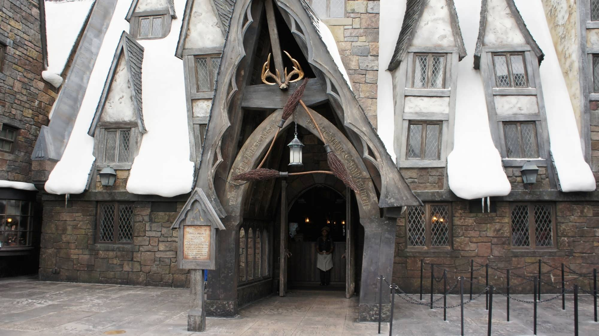 Entrance to Three Broomsticks at the Wizarding World of Harry Potter – Hogsmeade.
