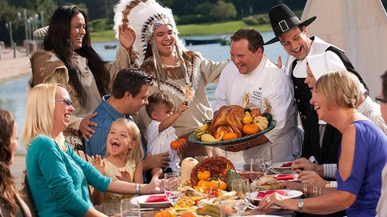 A 'Gather Together Thanksgiving' at Portofino Bay Hotel.