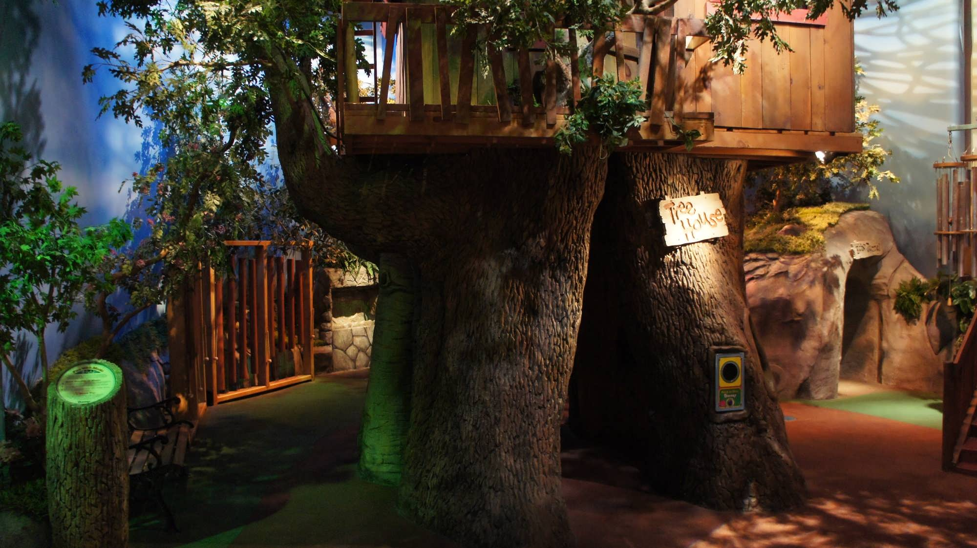 Barney's Backyard features this tree house and much more