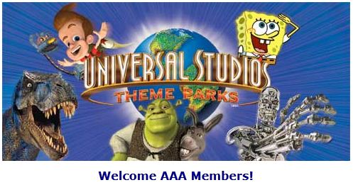 Aaa Discounts Universal Studios Orlando