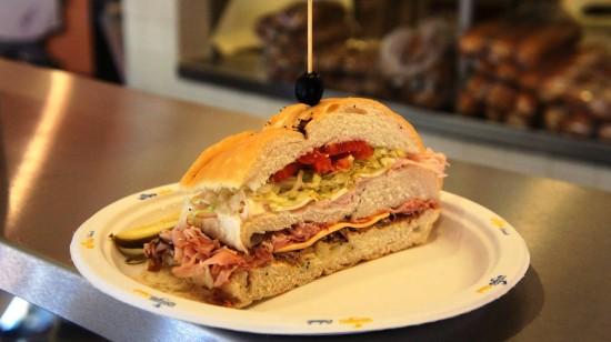 Famous Dagwood Sandwich at Blondie's (IOA).