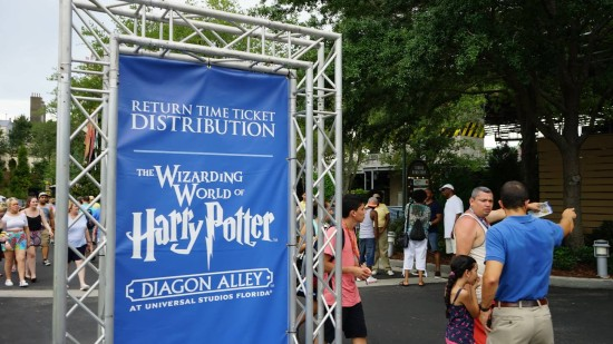 Return Time Ticket Distribution for Diagon Alley