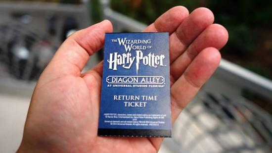 Return time ticket for Diagon Alley