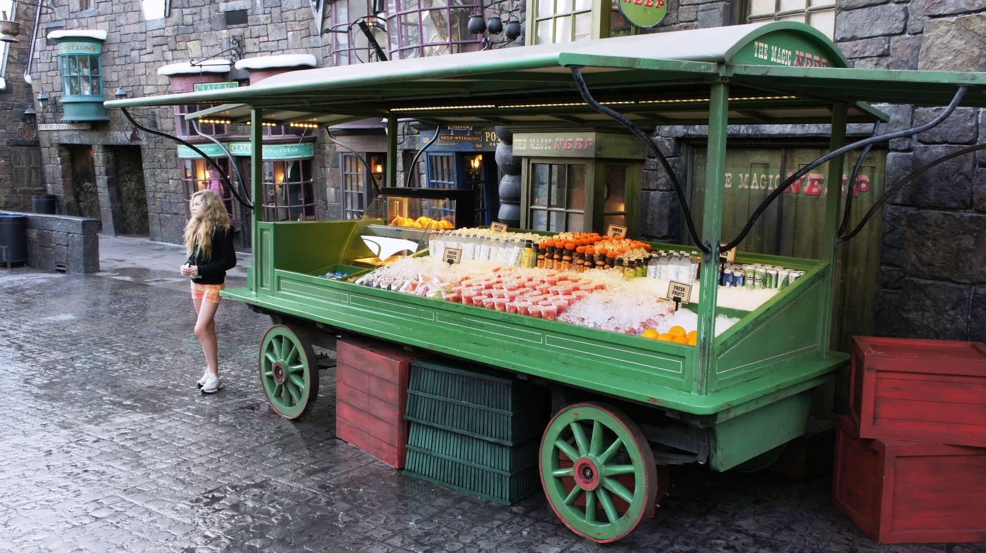 Breakfast cart in Hogsmeade Village