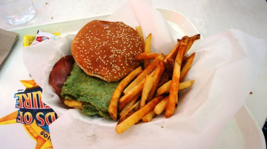 Green Eggs and Ham Sandwich at Green Eggs and Ham Cafe (IOA).