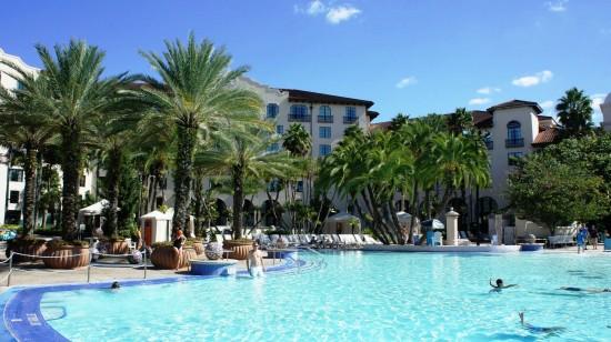 Beach Pool at Universal's Hard Rock Hotel.