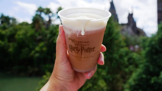 Butterbeer at the Wizarding World (counts as a snack).