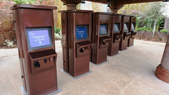 Electronic Will Call Kiosks at Islands of Adventure.