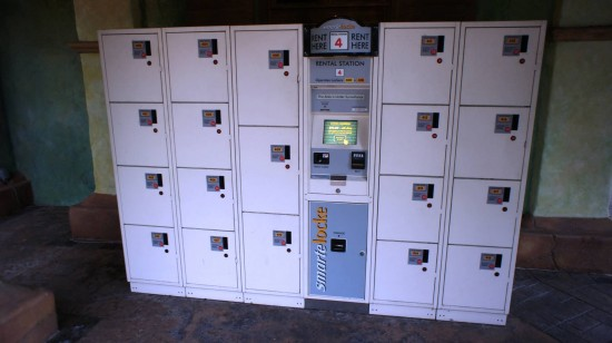 Lockers outside of Universal's Islands of Adventure.