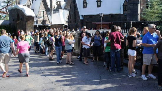 The line stretching out from Hogwarts Castle (3).