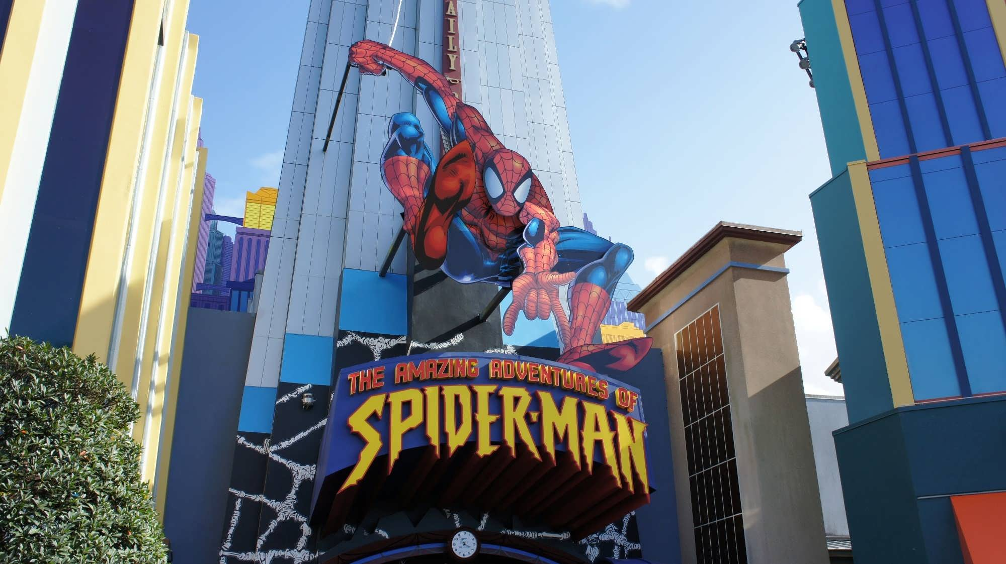 The Amazing Adventures of Spider-man ride exterior