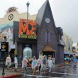 A rainy day at Universal Orlando.