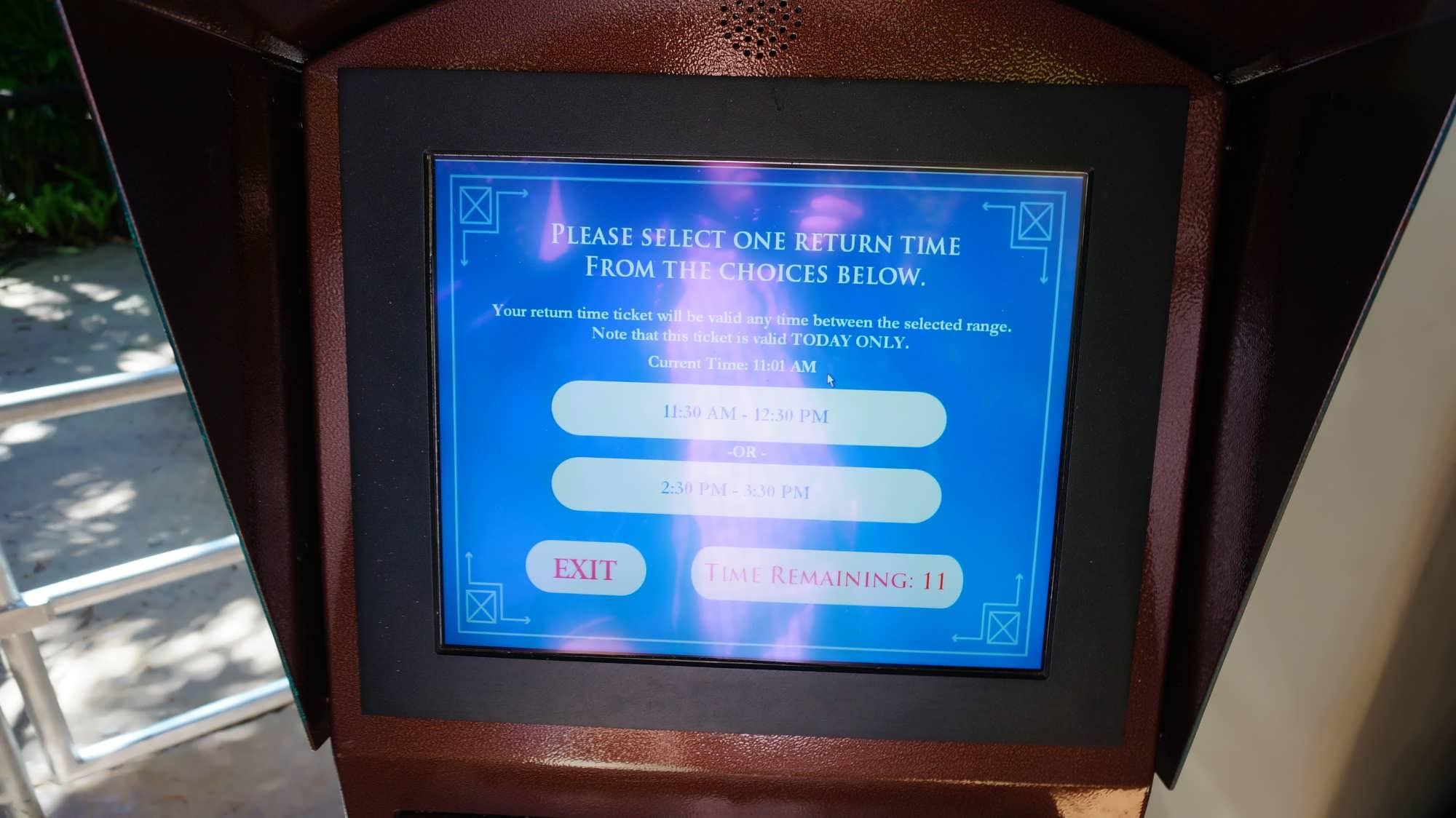 Return ticket kiosk in Jurassic Park
