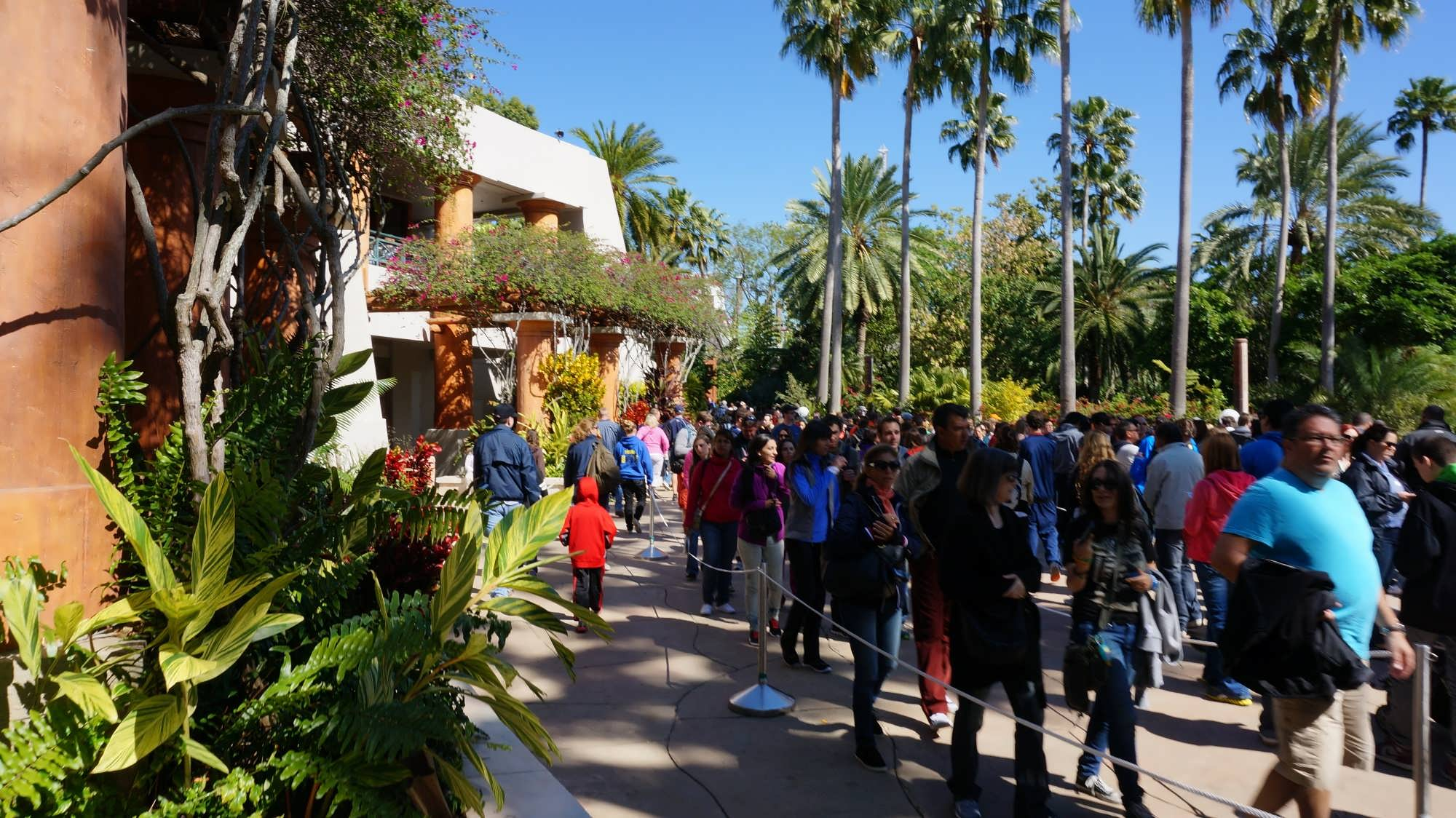 Hogsmeade standby line by the Jurassic Park Discovery Center