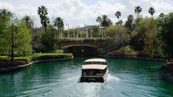 Water taxi on its way from CityWalk to Royal Pacific Resort.