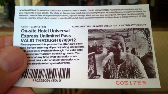 Universal Orlando's PHOTO Express Pass