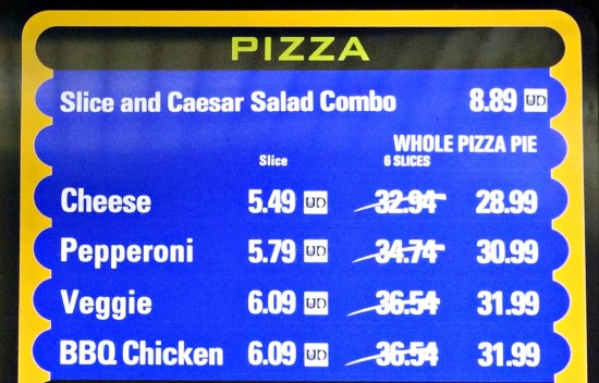 Universal Dining Plan - Quick Service: Menu selections.