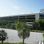 Universal Orlando's parking garages & transportation hub: One of the parking garages, shot from the other parking garage.