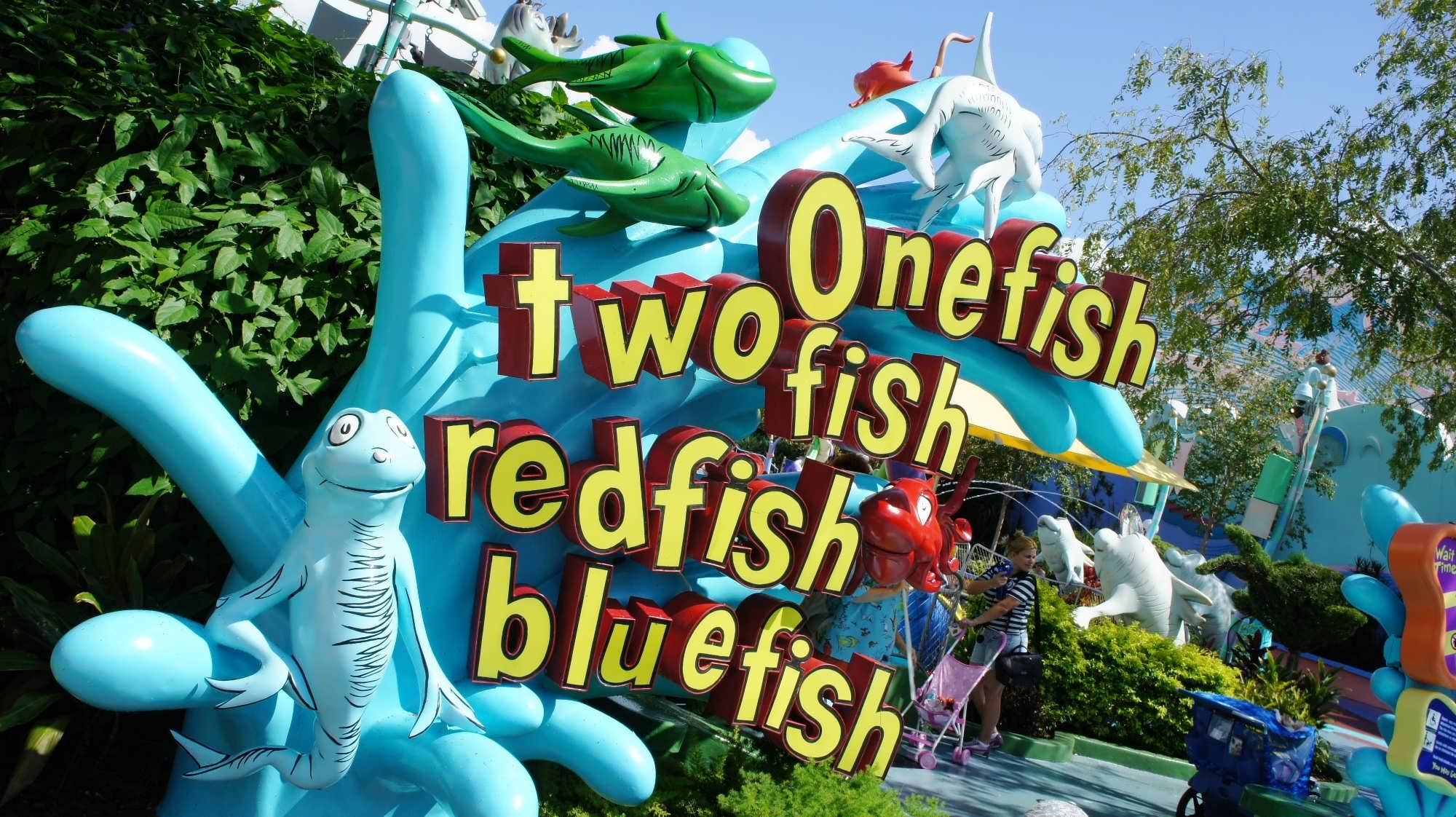 one fish two fish red fish blue fish at universal 39 s