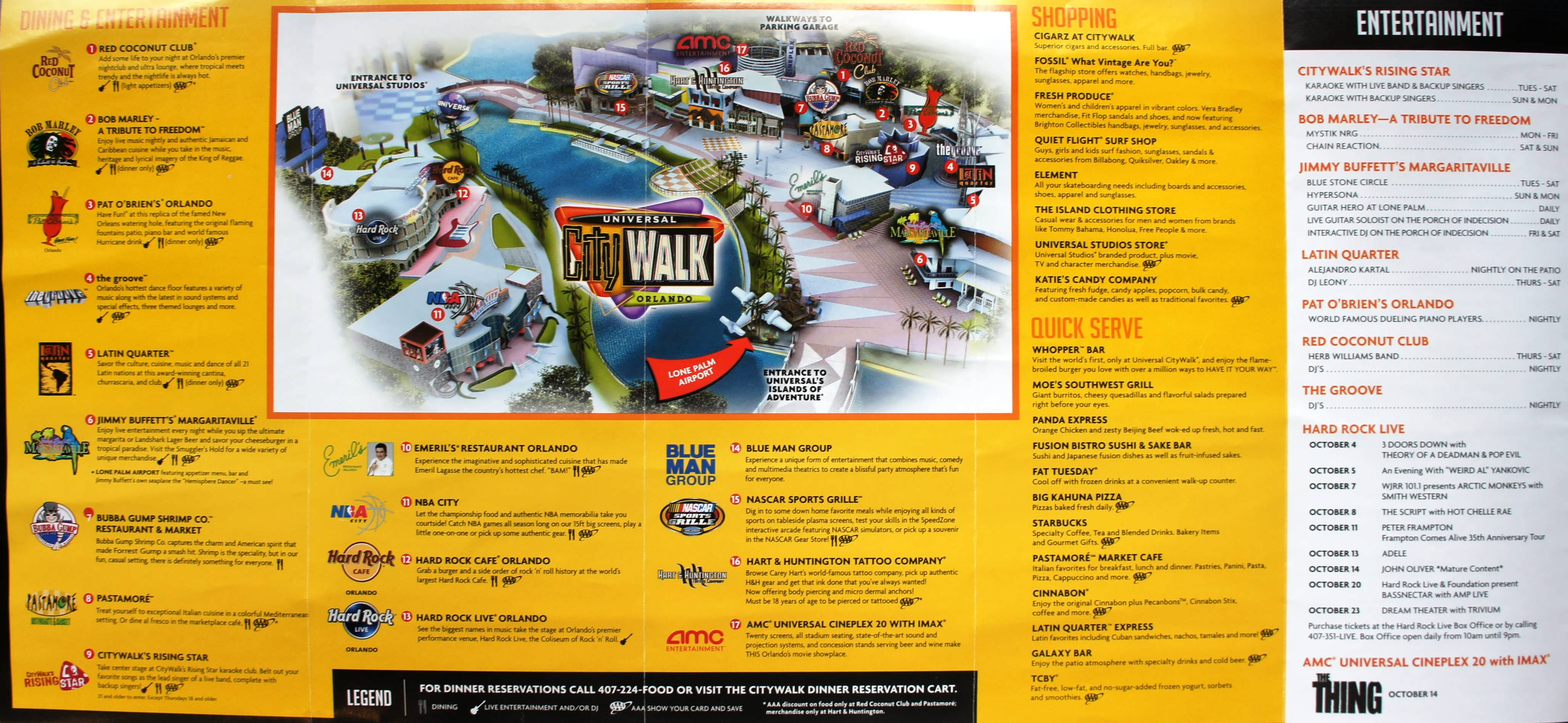 Universal City Walk Map Universal Citywalk Orlando | Orlando Informer Universal City Walk Map