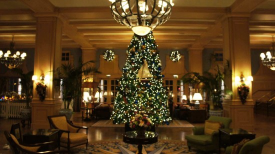 2011 holiday decorations at Disney's Yacht Club Resort.