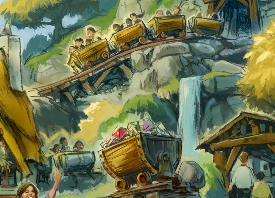 Seven Dwarfs Mine Train (courtesy of Disney Parks).