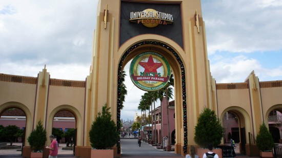 2011 holiday decorations at Universal Studios Florida.