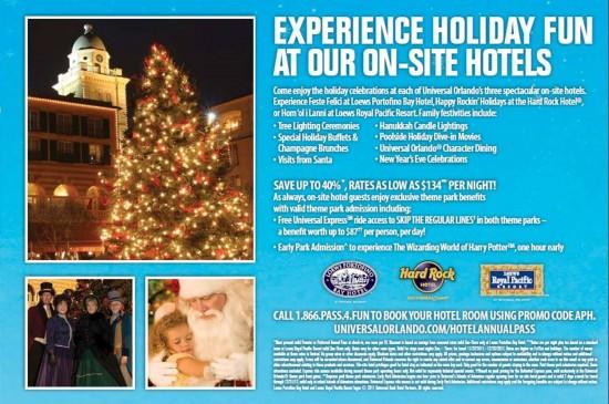 Universal Orlando annual passholder mailer - Winter 2011.