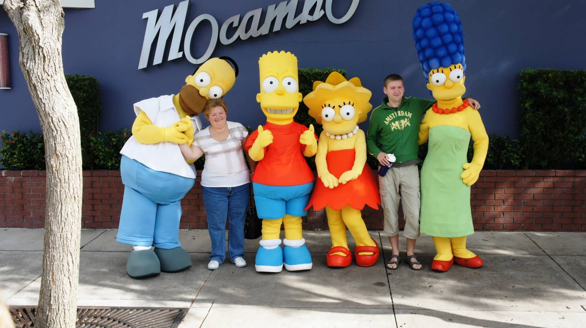 Guests meet The Simpsons at Universal Orlando