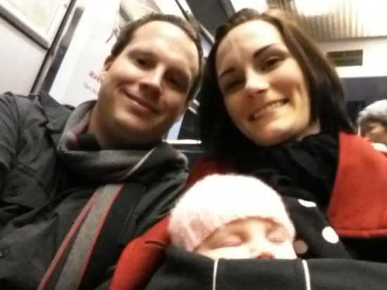 Happy holidays from the Hatfield Family (on the train to Strasbourg).