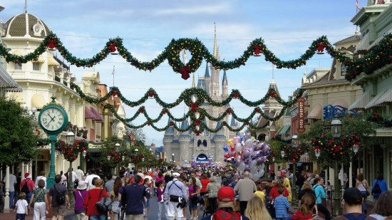 Magic Kingdom holiday decorations 2011.