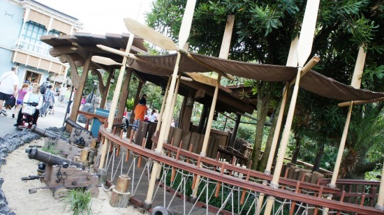 Magic Kingdom trip report - December 2011: New entryway for Swiss Family Treehouse.