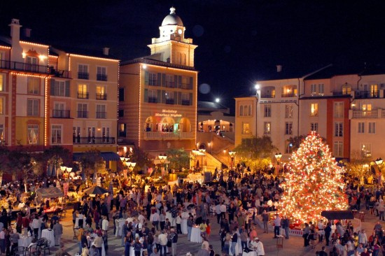 Holiday Harbor Nights at Portofino Bay Hotel.