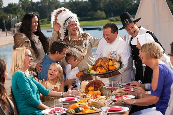 Celebration of the First Thanksgiving at Portofino Bay Hotel.