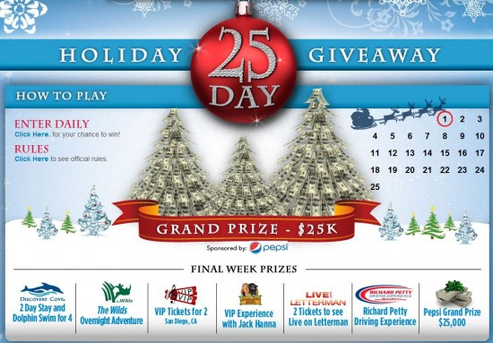SeaWorld's Holiday Giveaway (courtesy of seaworldpromotions.com).