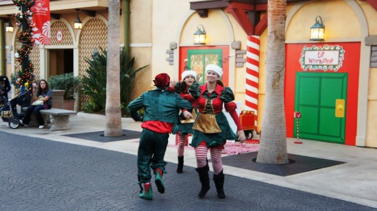 SeaWorld's Christmas Celebration 2011: Elves in the WaterFront area.