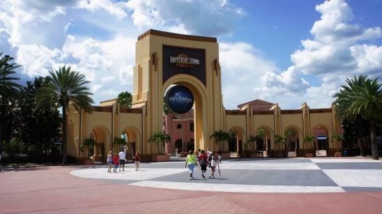 The gates of Universal Studios Florida.