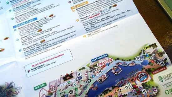 Universal in-park map as of January 3, 2012 - no JAWS or Amity.
