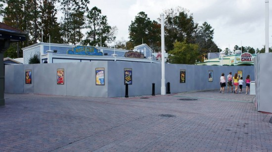 Classic movie posters now adorn the construction walls surrounding Amity.
