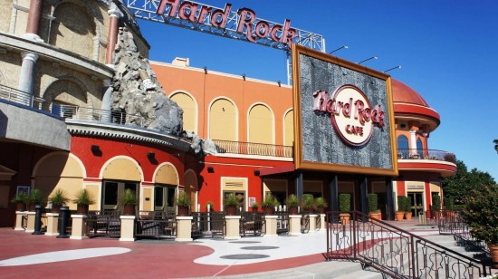 Hard Rock Cafe gets a new coat of paint.
